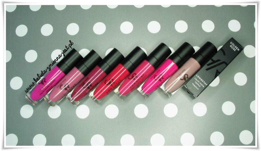 Golden Rose Longstay Liquid Matte Lipstick opinia blog recenzja wszystkie kolory