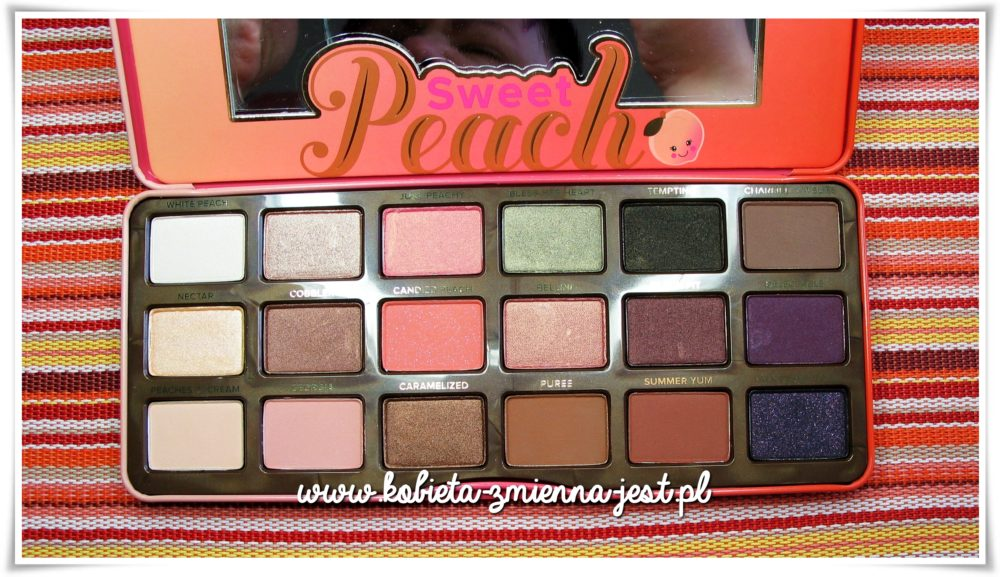 Too Faced Sweet Peach Palette review swatches blog