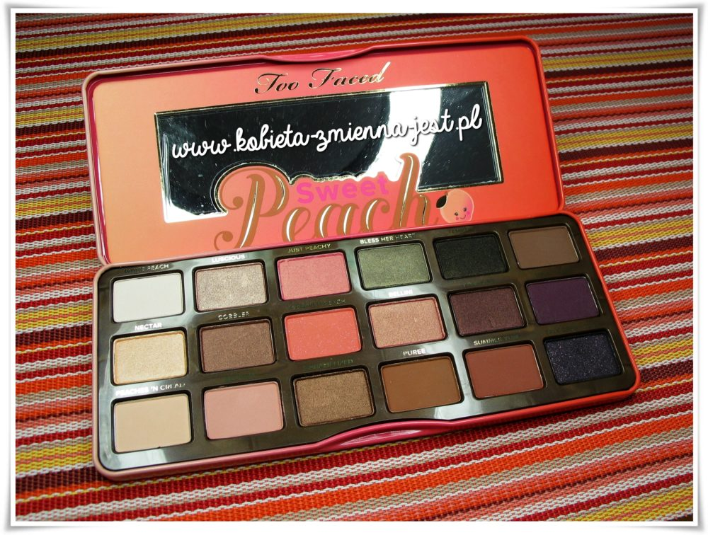 Too Faced Sweet Peach Palette review swatches blog real foto 2