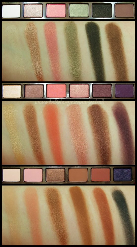 Too Faced Sweet Peach Palette swatches blog real foto