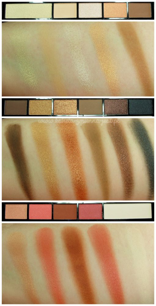 makeup revolution i heart makeup chocolate vice palette swatches review