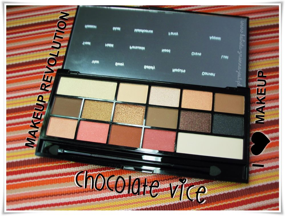 makeup revolution i heart makeup chocolate vice palette swatches review BLOG