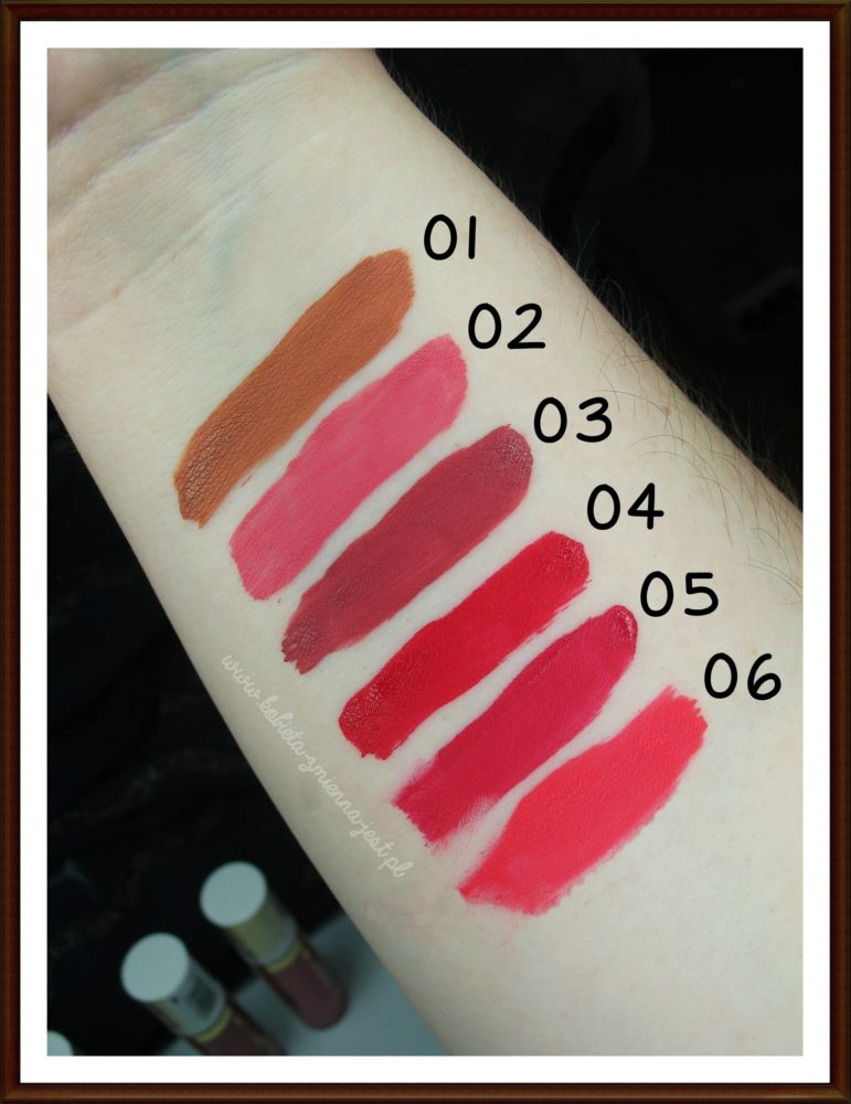 Bell Moroccan Dream Matte Liquid Lips recenzja review blog beauty blog wszystkie kolory swatche
