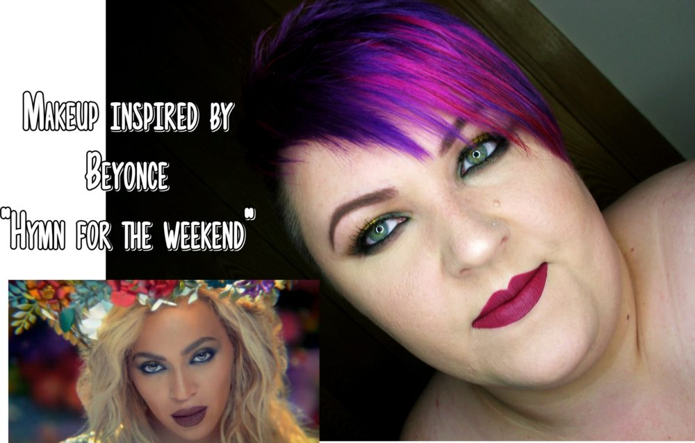 Makeup inspired by Beyonce Hymn for the weekend blog tytuł