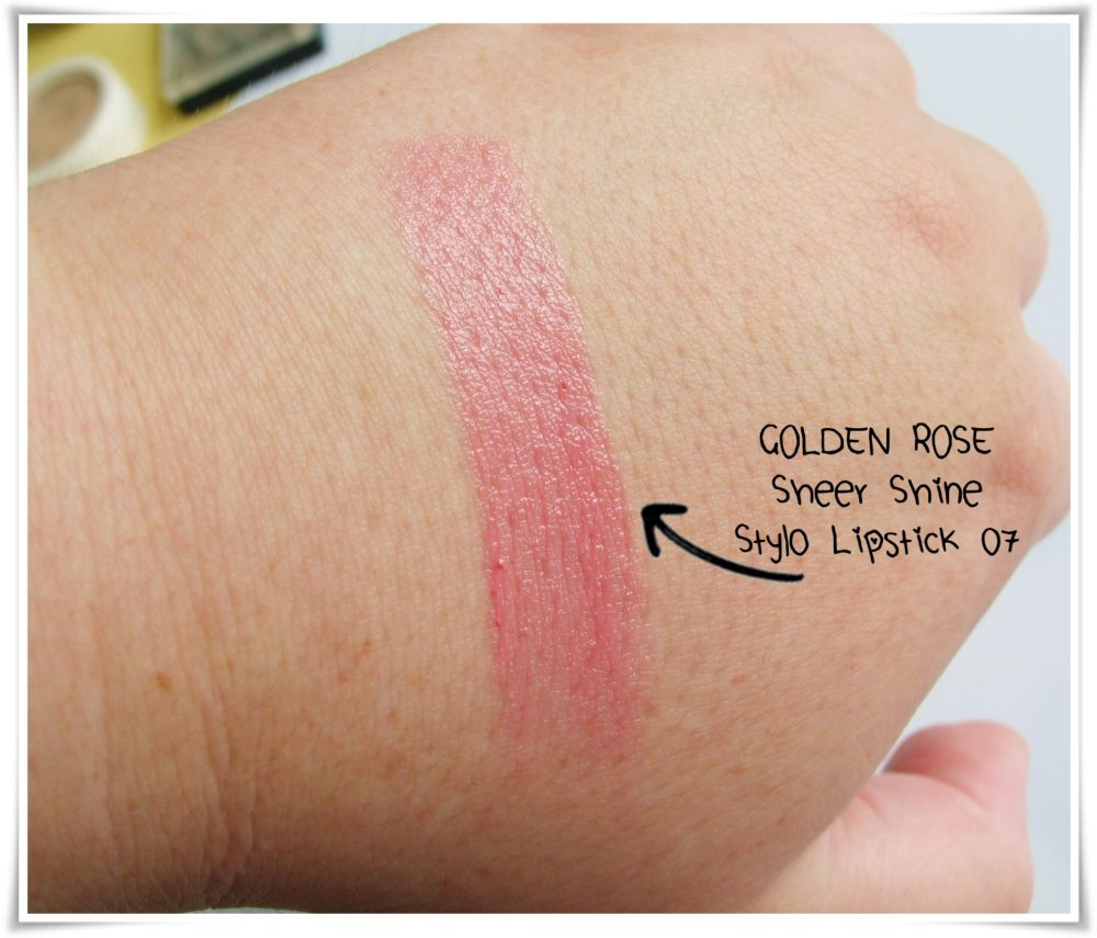 Golden Rose Sheer Shine 07  beauty blog swatches