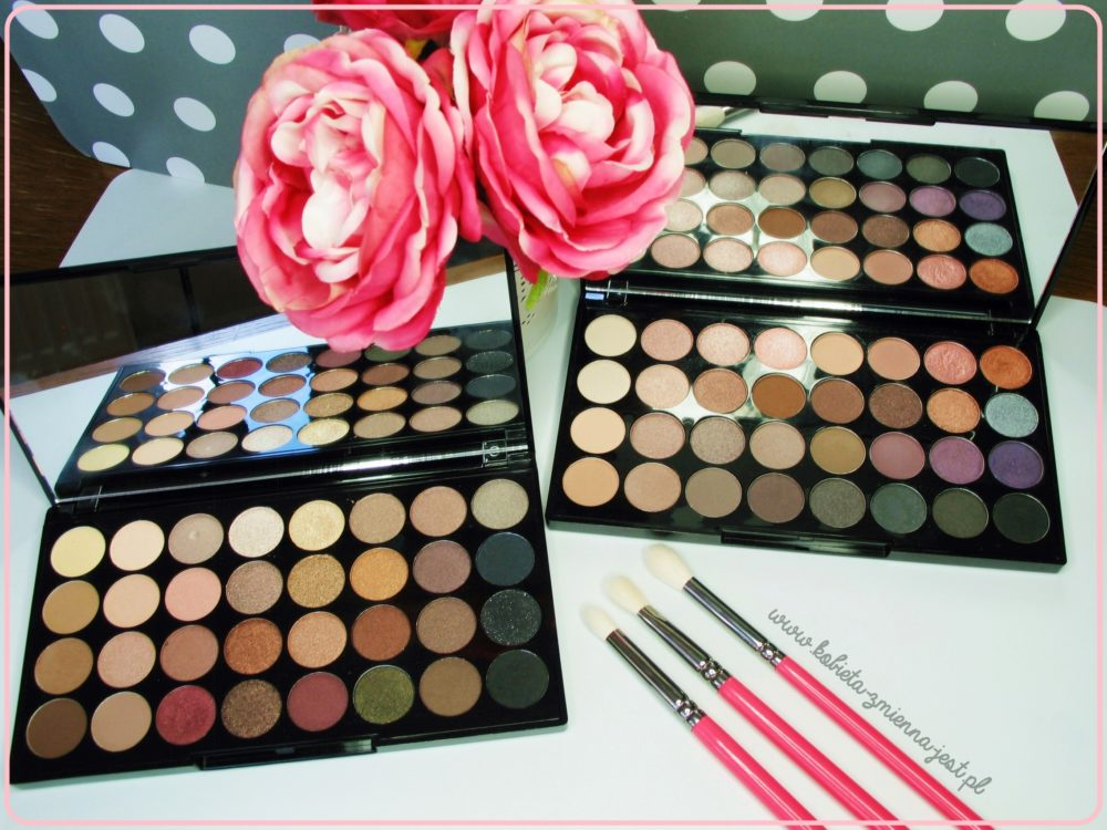Makeup Revolution 32 ultra professional eyeshadows palette affirmation Flawless best palette najlepsza paleta do makijażu dziennego blog