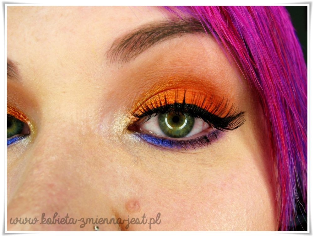 makijaż makeup bright color neon color full color makeup beauty blog
