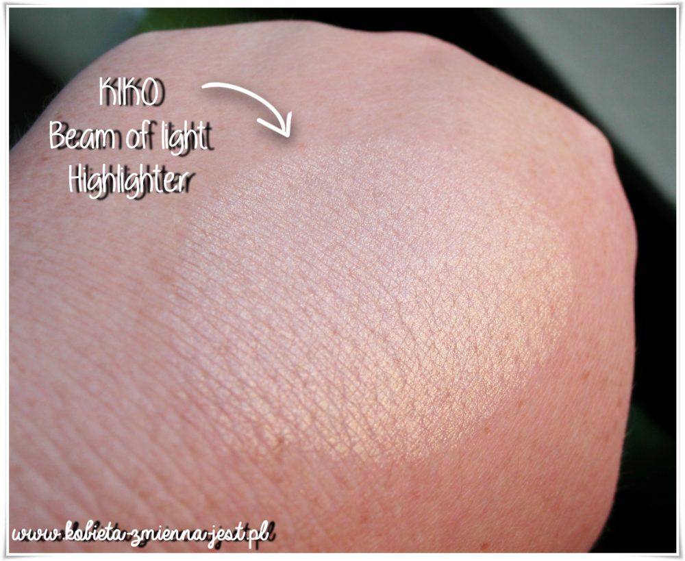 Kiko milano beam of light highlighter swatch beauty blog