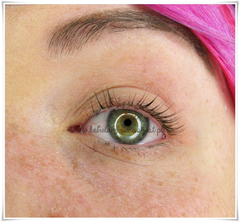 LVL Lifting rzęs zabieg efekty po lewe oko