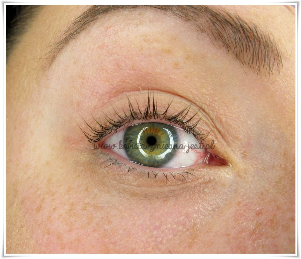 LVL Lifting rzęs zabieg efekty po prawe oko