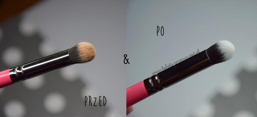 jak wyczyścić pędzle i gąbki do makijażu domowe sposoby tanie sposoby beauty blog kobiece porady czyszczenie olejkiem pod prysznic