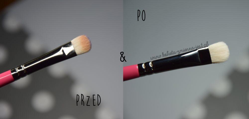 jak wyczyścić pędzle i gąbki do makijażu domowe sposoby tanie sposoby beauty blog kobiece porady czyszczenie płynem do naczyń